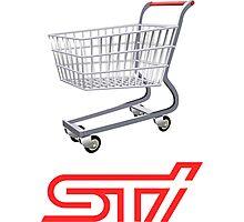 STI Shopping Cart Wing Photographic Print