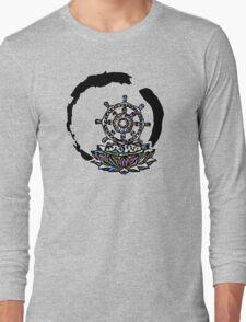 Lotus Wheel Enso - Gentleness Long Sleeve T-Shirt