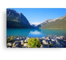 Flowers For Lake Louise - Alberta Canvas Print