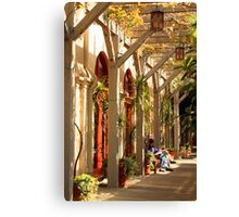 Relaxing In The Breezeway Canvas Print