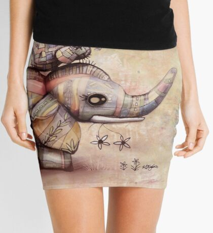 upside down elephants Mini Skirt