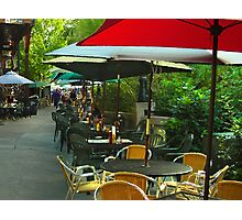 Dining Under The Umbrellas Photographic Print