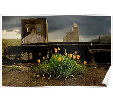 Lithgow NSW - Remains of the Ferranti Blast Furnace No 2 Poster
