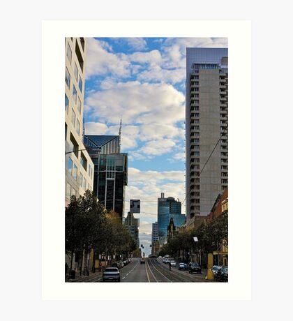 Streetscape in Melbourne Art Print