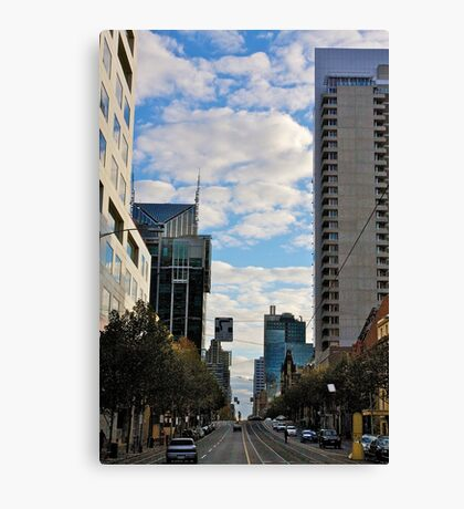 Streetscape in Melbourne Canvas Print