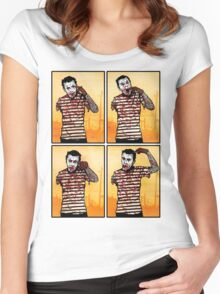 The Zombie Mime! Women's Fitted Scoop T-Shirt
