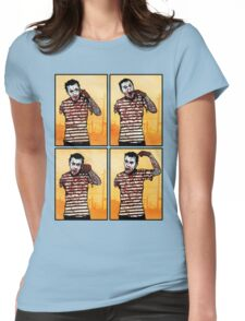 The Zombie Mime! Womens Fitted T-Shirt