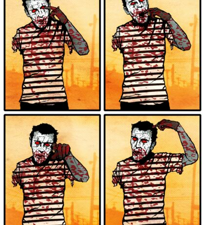 The Zombie Mime! Sticker