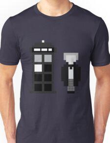 Pixel 1st Doctor and TARDIS Unisex T-Shirt