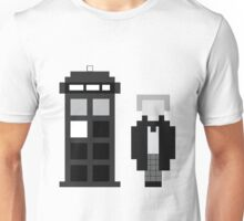 Pixel 1st Doctor and TARDIS Unisex T-Shirt