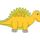 Cute Yellow Dinosaur by artgoddess