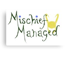 Mischief Managed  Canvas Print