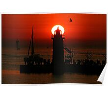 South Haven Pier Poster