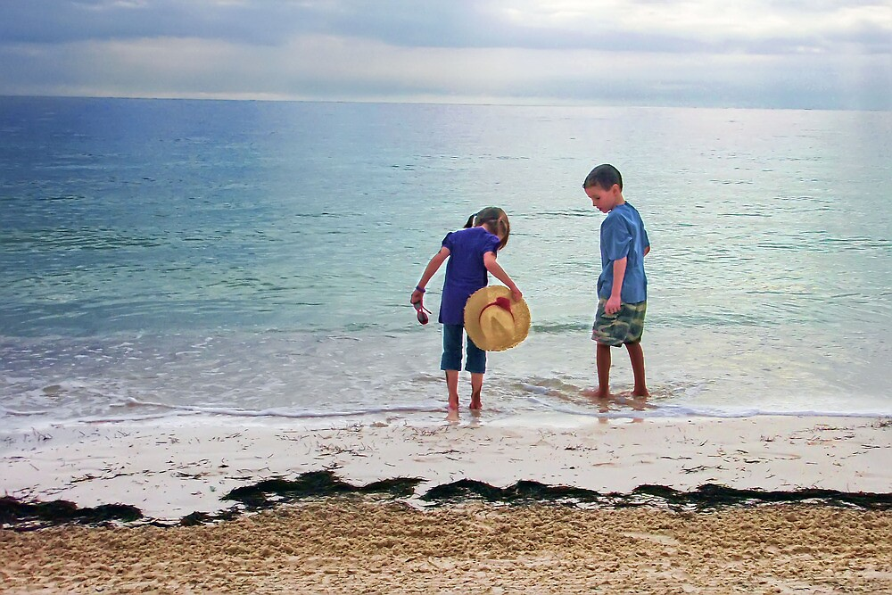 Kids in Cancun by Dave Nielsen