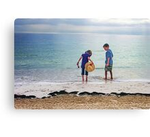 Kids in Cancun Canvas Print