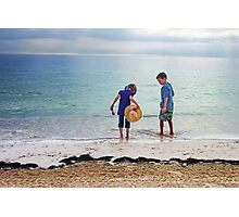Kids in Cancun Photographic Print