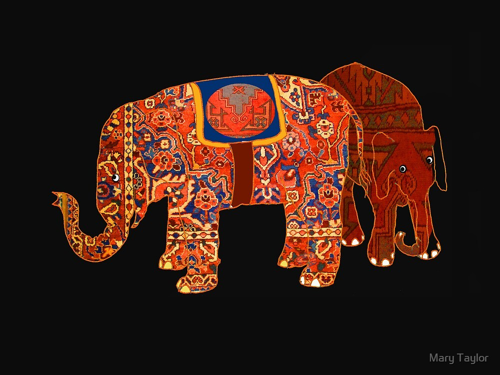 """""""Two Persian elephants"""" by Mary Taylor"""