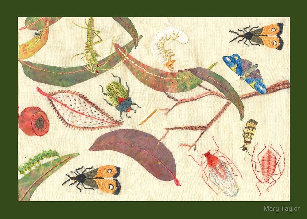 """""""Leaf litter with bugs"""" by Mary Taylor"""