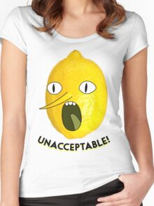 UNACCEPTABLE!!!! Women's Fitted Scoop T-Shirt