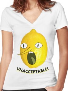 UNACCEPTABLE!!!! Women's Fitted V-Neck T-Shirt