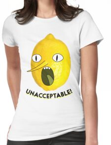 UNACCEPTABLE!!!! Womens Fitted T-Shirt