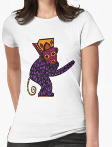 Monkey #1 Womens Fitted T-Shirt