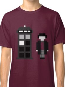 Pixel 2nd Doctor and TARDIS Classic T-Shirt