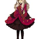 Red Classic Gothic Lolita by jillycube