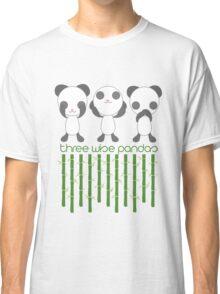 Three Wise Pandas Classic T-Shirt