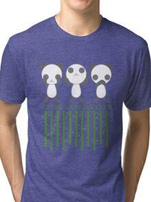 Three Wise Pandas Tri-blend T-Shirt