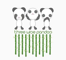 Three Wise Pandas Womens Fitted T-Shirt