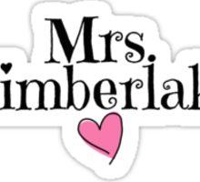 Mrs. Timberlake Sticker