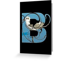 B is for bird Greeting Card