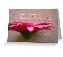 The Grieving Mother Greeting Card