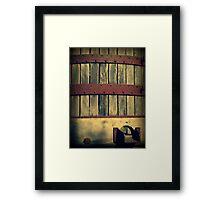 Antique Wine Press Framed Print