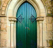 Ross Uniting Church door, Ross by Elana Bailey