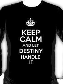 Keep calm and let Destiny handle it! T-Shirt
