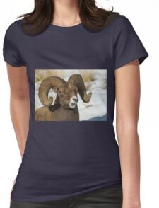Big Horn Sheep   #7722 Womens Fitted T-Shirt