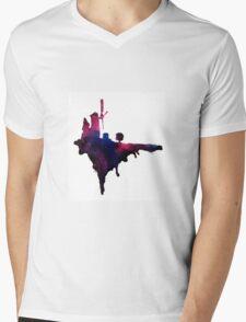 Gorillaz Windmill Island Mens V-Neck T-Shirt