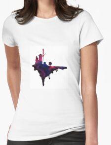 Gorillaz Windmill Island Womens Fitted T-Shirt