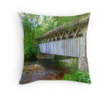 Covered Footbridge-2 Throw Pillow