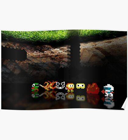 Dig Dug pixel art Poster