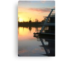 Sun rise on the Murray River Canvas Print