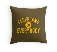 Cleveland > Everybody - Browns Throw Pillow
