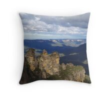 Shadows over Three Sisters Throw Pillow