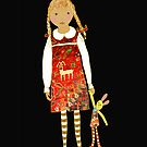 """""""Little girl with persian carpet dress"""" by Mary Taylor"""