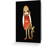 """""""Little girl with persian carpet dress"""" Greeting Card"""