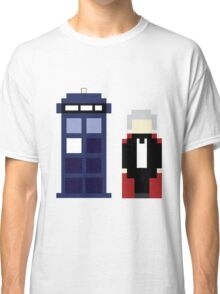 Pixel 3rd Doctor and TARDIS Classic T-Shirt