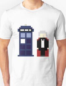 Pixel 3rd Doctor and TARDIS Unisex T-Shirt