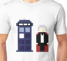 Pixel 3rd Doctor and TARDIS Unisex T-Shirt